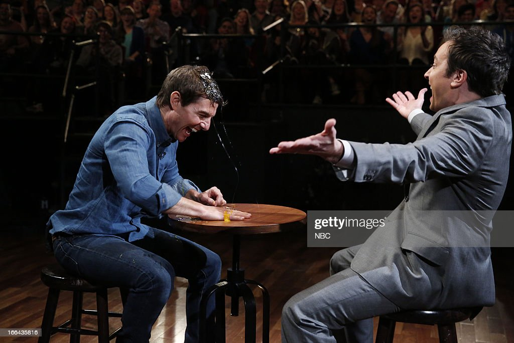 <a gi-track='captionPersonalityLinkClicked' href=/galleries/search?phrase=Tom+Cruise&family=editorial&specificpeople=156405 ng-click='$event.stopPropagation()'>Tom Cruise</a> with host Jimmy Fallon during a skit on April 12, 2013 --