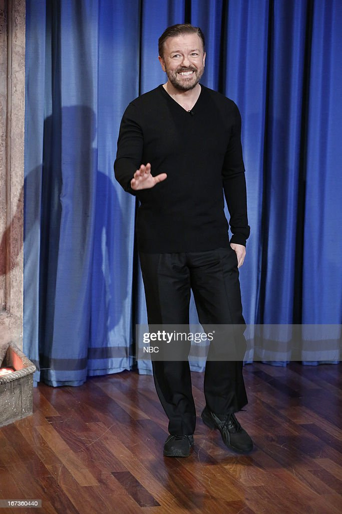 <a gi-track='captionPersonalityLinkClicked' href=/galleries/search?phrase=Ricky+Gervais&family=editorial&specificpeople=209237 ng-click='$event.stopPropagation()'>Ricky Gervais</a> arrives on April 24, 2013 --