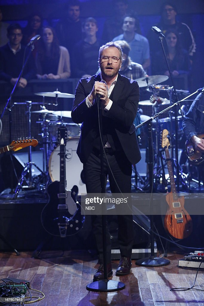 Matt Berninger of musical guest The National performs on April 25, 2013 --