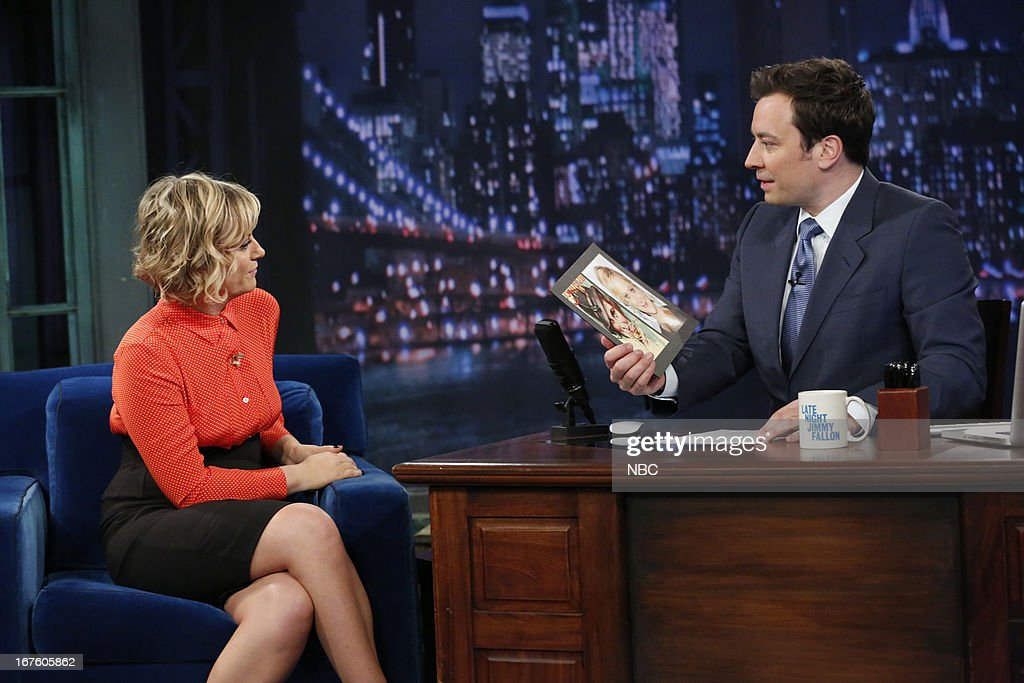 <a gi-track='captionPersonalityLinkClicked' href=/galleries/search?phrase=Amy+Poehler&family=editorial&specificpeople=228430 ng-click='$event.stopPropagation()'>Amy Poehler</a> with host Jimmy Fallon during an interview on April 26, 2013 --