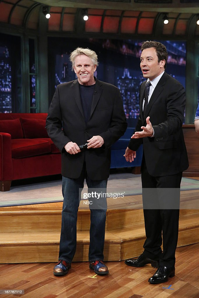 <a gi-track='captionPersonalityLinkClicked' href=/galleries/search?phrase=Gary+Busey&family=editorial&specificpeople=206115 ng-click='$event.stopPropagation()'>Gary Busey</a> with host Jimmy Fallon on 4/29/13 --