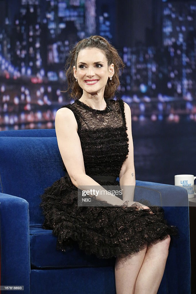 Actress Winona Ryder during an interview on April 30, 2013--