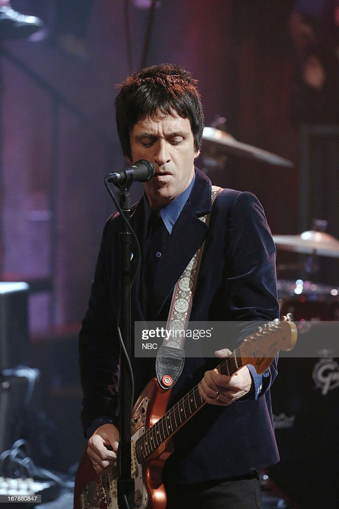 Musical guest Johnny Marr performs on May 1, 2013 --