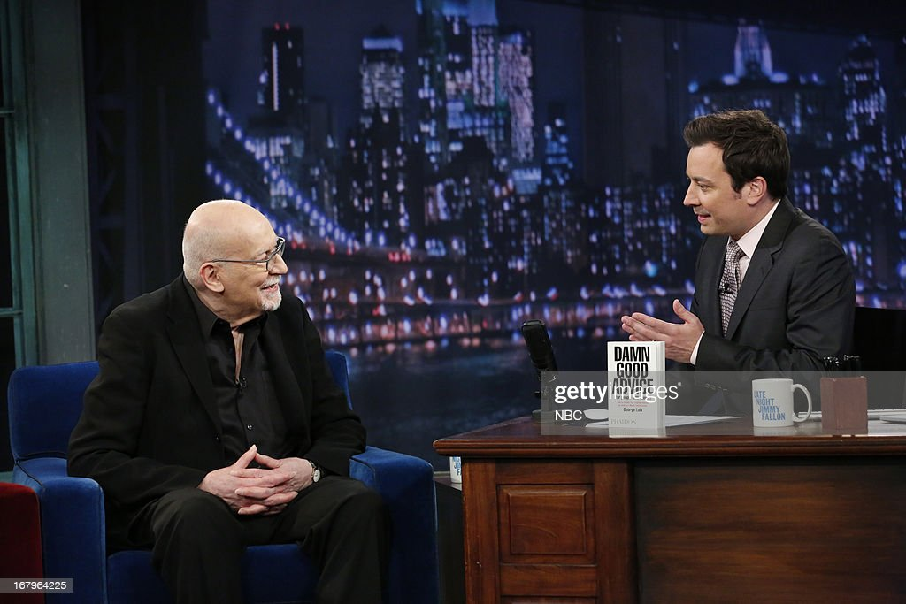 George Lois with host Jimmy Fallon during an interview on May 2, 2013 --
