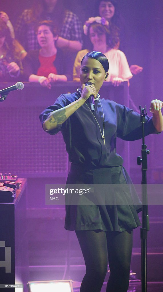 Musical guest Aino Jawo of Icona Pop performs on May 2, 2013 --