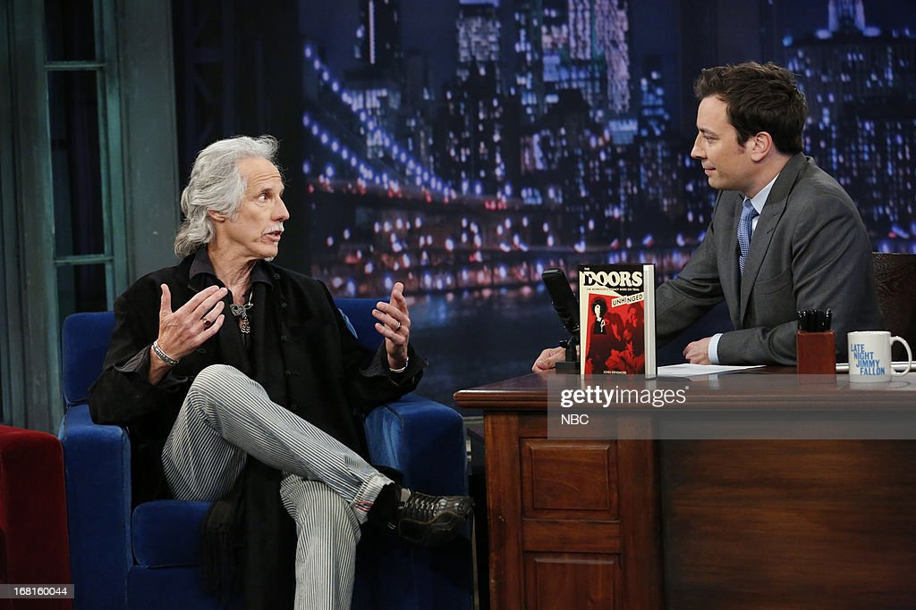 <a gi-track='captionPersonalityLinkClicked' href=/galleries/search?phrase=John+Densmore&family=editorial&specificpeople=926933 ng-click='$event.stopPropagation()'>John Densmore</a> with host Jimmy Fallon during an interview on May 3, 2013 --