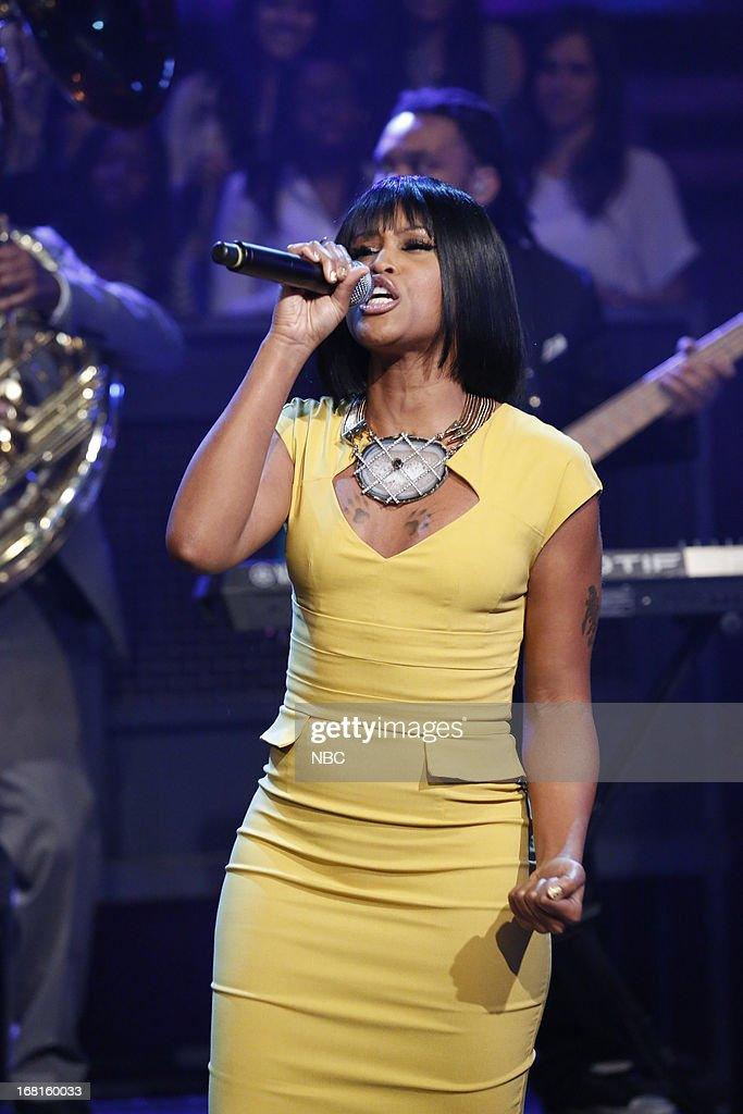 Musical guest <a gi-track='captionPersonalityLinkClicked' href=/galleries/search?phrase=Eve+-+Singer&family=editorial&specificpeople=201785 ng-click='$event.stopPropagation()'>Eve</a> performs on May 3, 2013 --