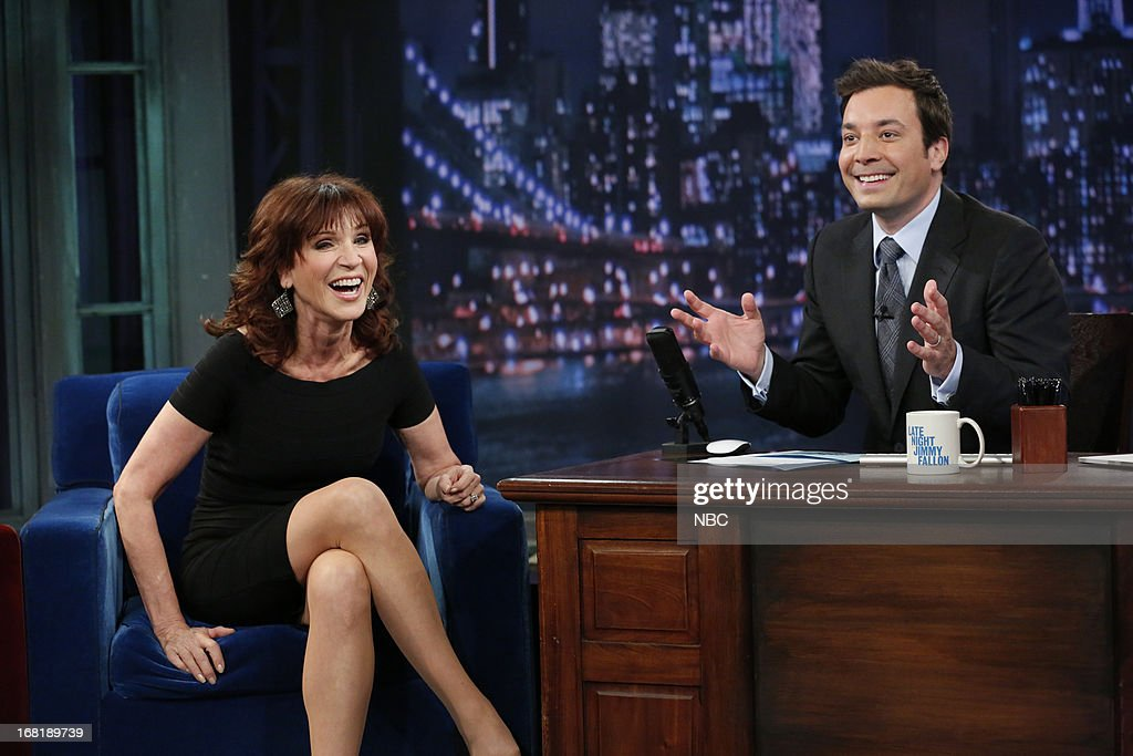 Actress Marilu Henner with host Jimmy Fallon during an interview on May 6, 2013 --