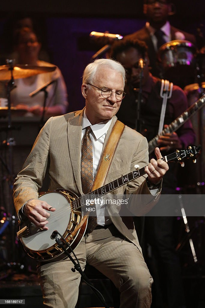 Musical guest <a gi-track='captionPersonalityLinkClicked' href=/galleries/search?phrase=Steve+Martin&family=editorial&specificpeople=196544 ng-click='$event.stopPropagation()'>Steve Martin</a> performs on May 6, 2013 --