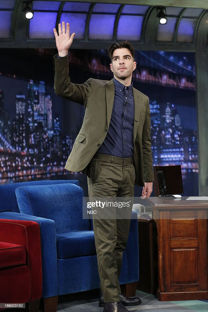 Zachary Quinto arrives on May 8, 2013 --