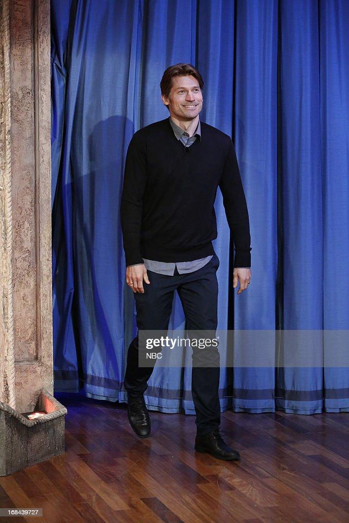 Actor Nikolaj Coster-Waldau arrives on May 9, 2013 --