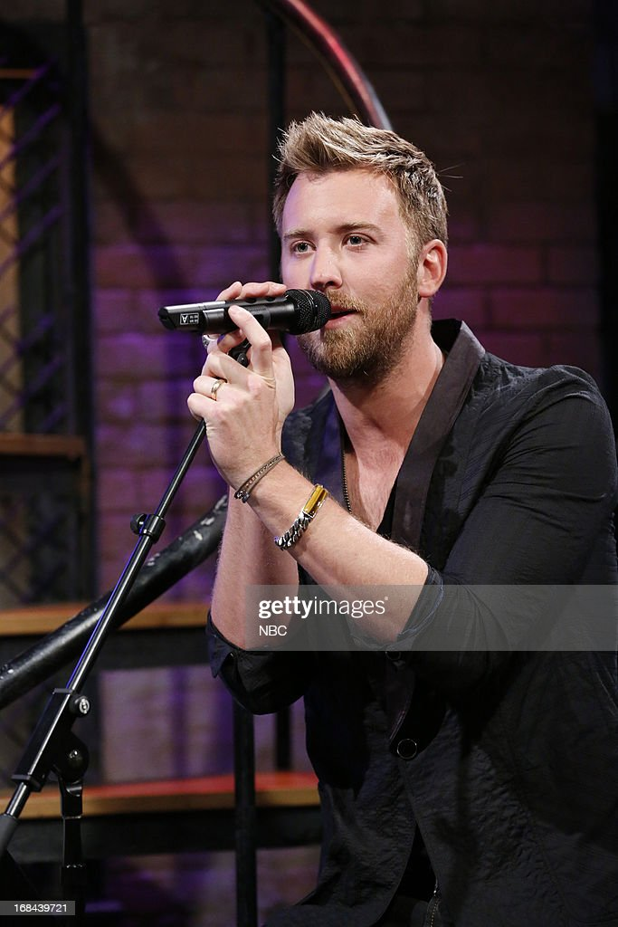<a gi-track='captionPersonalityLinkClicked' href=/galleries/search?phrase=Charles+Kelley&family=editorial&specificpeople=3935435 ng-click='$event.stopPropagation()'>Charles Kelley</a> of musical guest Lady Antebellum sings on May 9, 2013 --