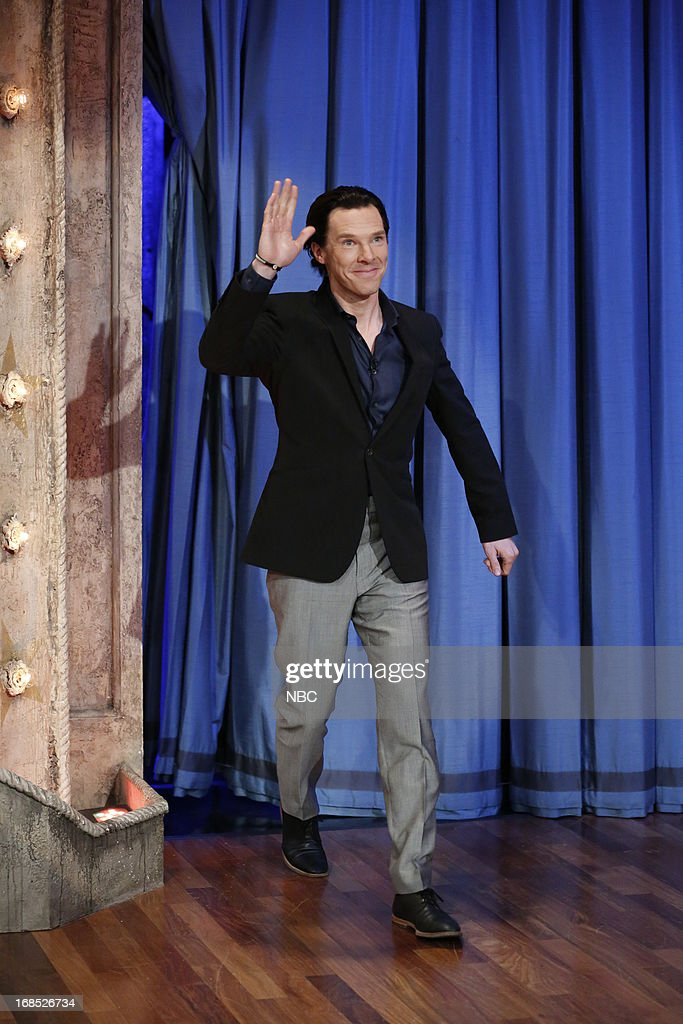 Actor <a gi-track='captionPersonalityLinkClicked' href=/galleries/search?phrase=Benedict+Cumberbatch&family=editorial&specificpeople=2487879 ng-click='$event.stopPropagation()'>Benedict Cumberbatch</a> arrives on May 10, 2013 --