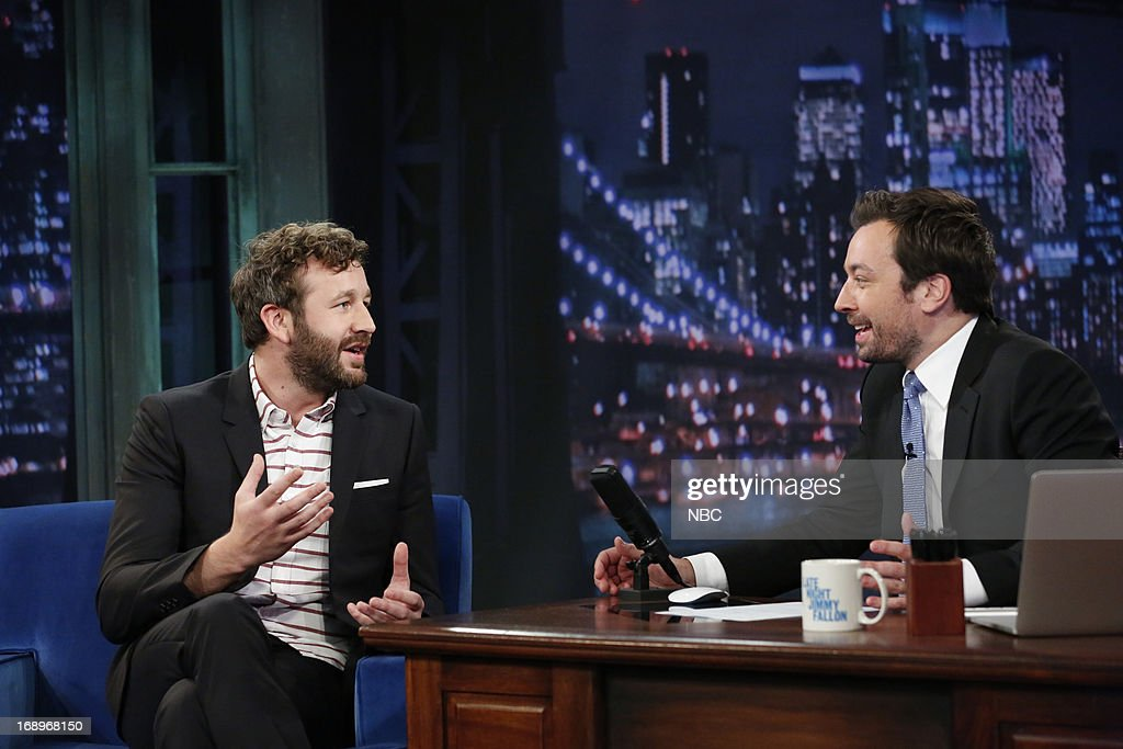 Chris O'Dowd with host Jimmy Fallon during an interview on May 17, 2013 --