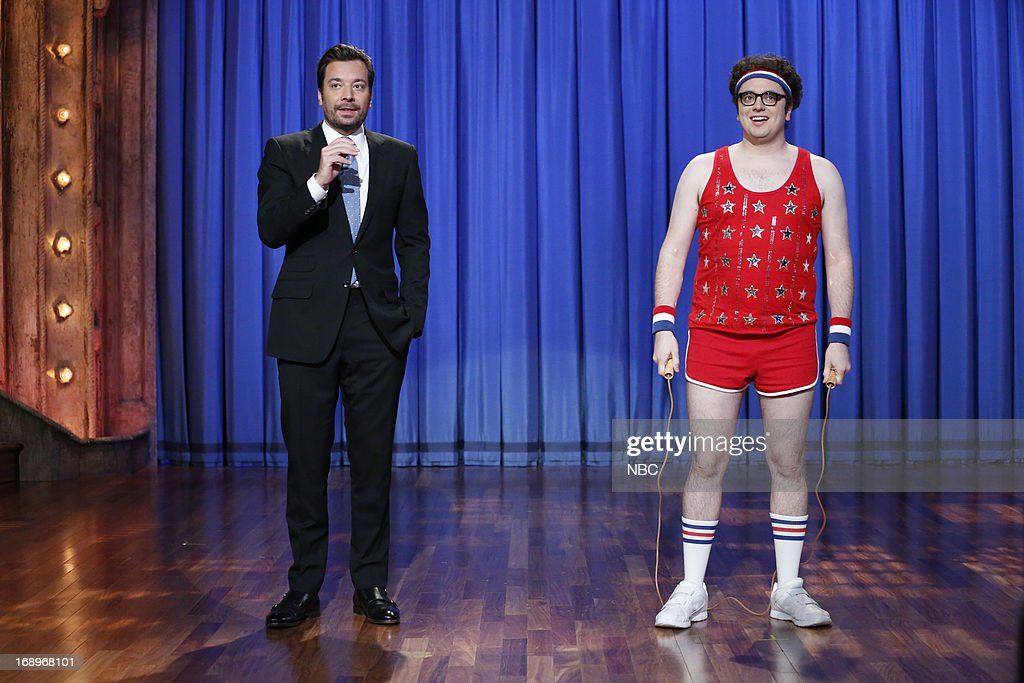 Host Jimmy Fallon and Arthur Meyer during a skit on May 17, 2013 --