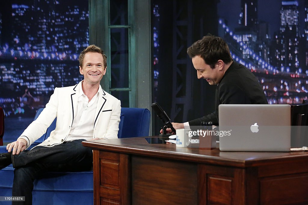 Neil Patrick Harris with host Jimmy Fallon during an interview on June 7, 2013 --