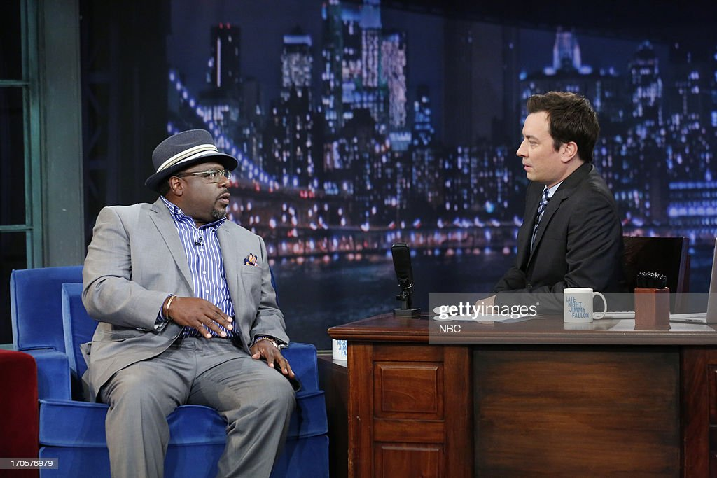 Comedian/actor <a gi-track='captionPersonalityLinkClicked' href=/galleries/search?phrase=Cedric+the+Entertainer&family=editorial&specificpeople=210583 ng-click='$event.stopPropagation()'>Cedric the Entertainer</a> with host Jimmy Fallon during an interview on June 14, 2013 --