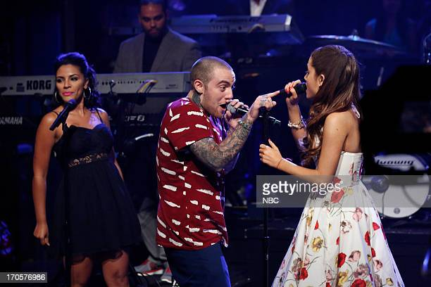 Musical guest Ariana Grande featuring Mac Miller performs on June 14 2013