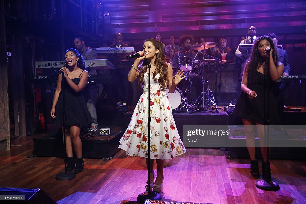 Musical guest Ariana Grande performs on June 14, 2013 --