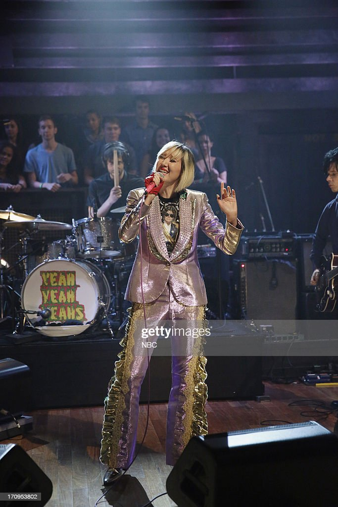 Musical guest Karen O of Yeah Yeah Yeahs performs on June 20, 2013 --