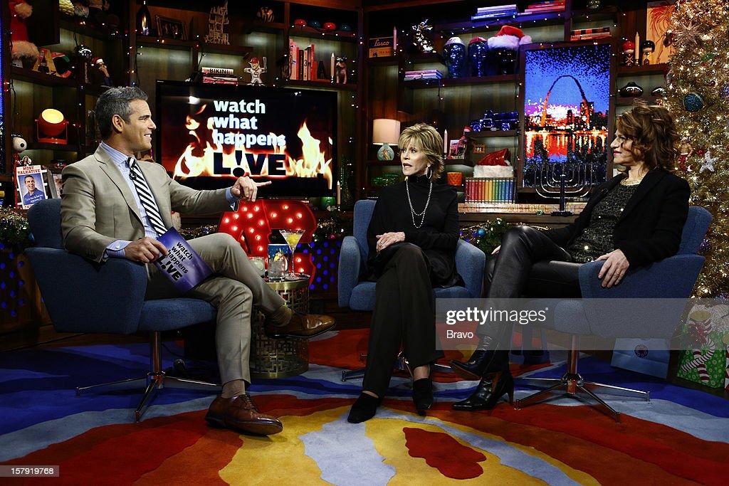 Andy Cohen, Jane Fonda, Sandra Bernhard --