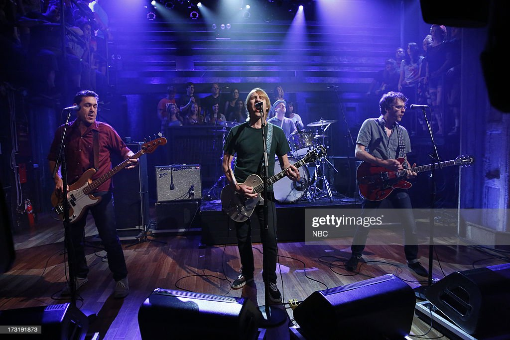 Guy Maddison, Mark Arm, Dan Peters, Steve Turner of musical guest Mudhoney performs on July 9, 2013 --