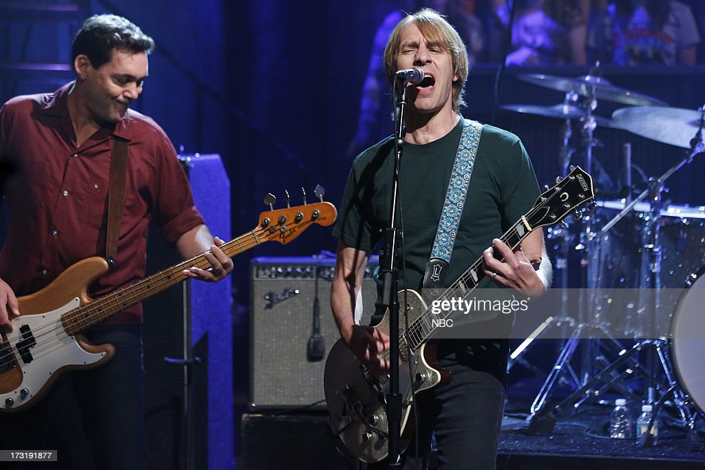 Guy Maddison, Mark Arm of musical guest Mudhoney performs on July 9, 2013 --