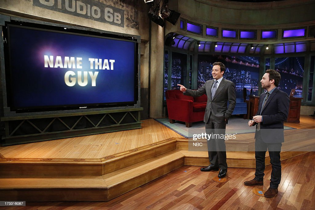 Host Jimmy Fallon and Charlie Day during a skit on July 11, 2013 --