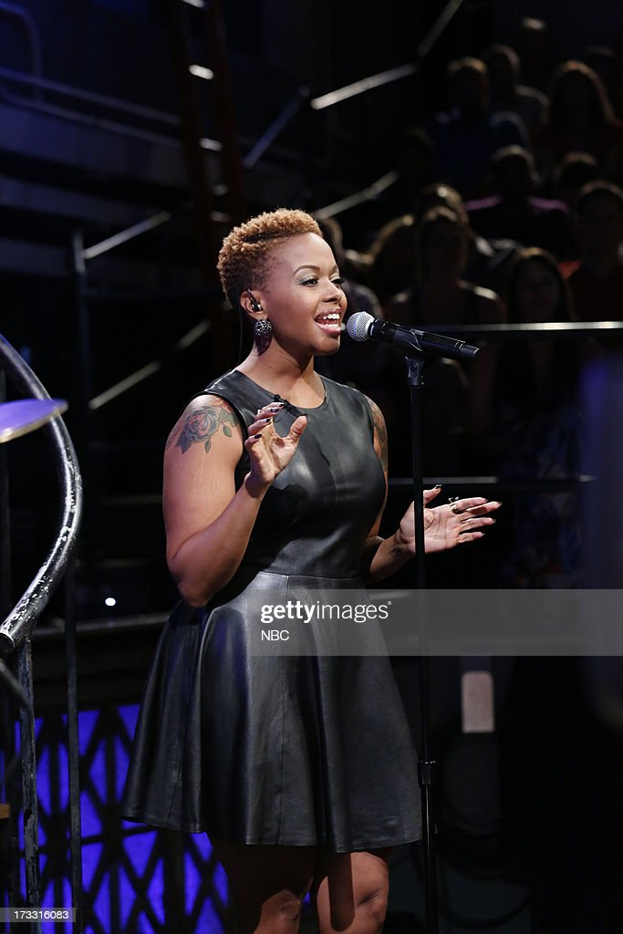 Singer Chrisette Michele sits in with the Roots on July 11, 2013 --