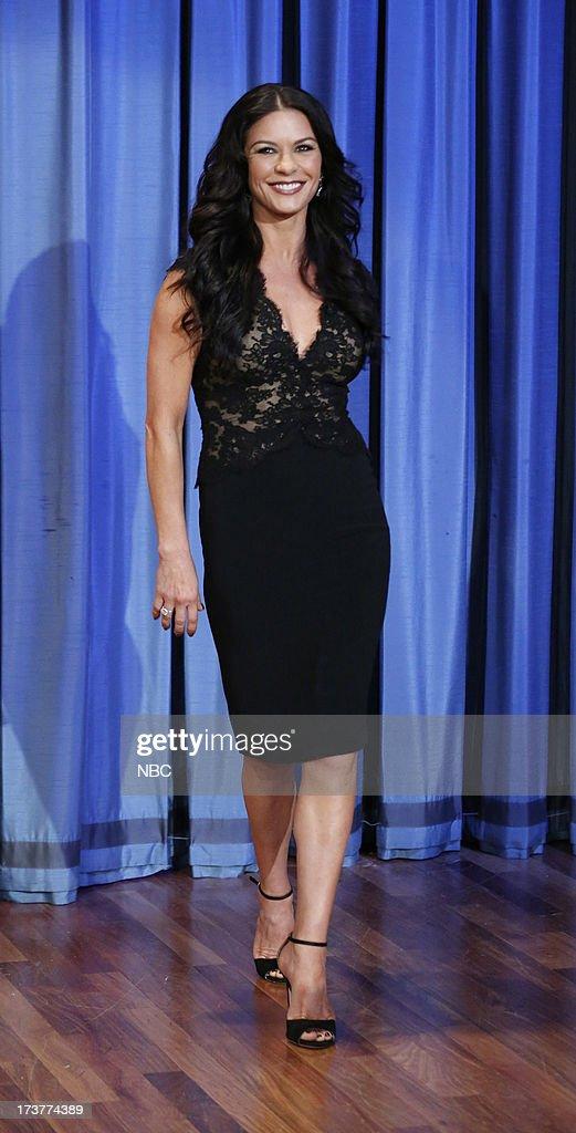 Catherine Zeta-Jones arrives on July 17, 2013 --