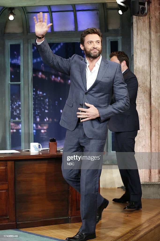 <a gi-track='captionPersonalityLinkClicked' href=/galleries/search?phrase=Hugh+Jackman&family=editorial&specificpeople=202499 ng-click='$event.stopPropagation()'>Hugh Jackman</a> arrives on July 24, 2013 --