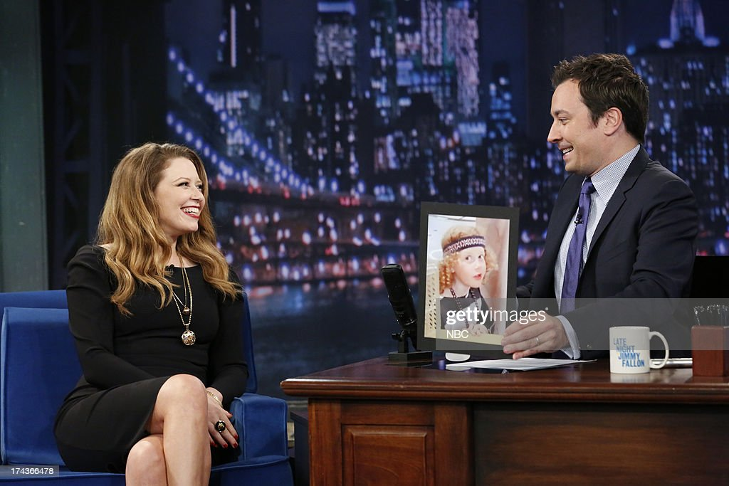 <a gi-track='captionPersonalityLinkClicked' href=/galleries/search?phrase=Natasha+Lyonne&family=editorial&specificpeople=1537481 ng-click='$event.stopPropagation()'>Natasha Lyonne</a> with host Jimmy Fallon during an interview on July 24, 2013 -- (Photo by: Lloyd Bishop/NBC/NBCU Photo Bank via Getty Images).