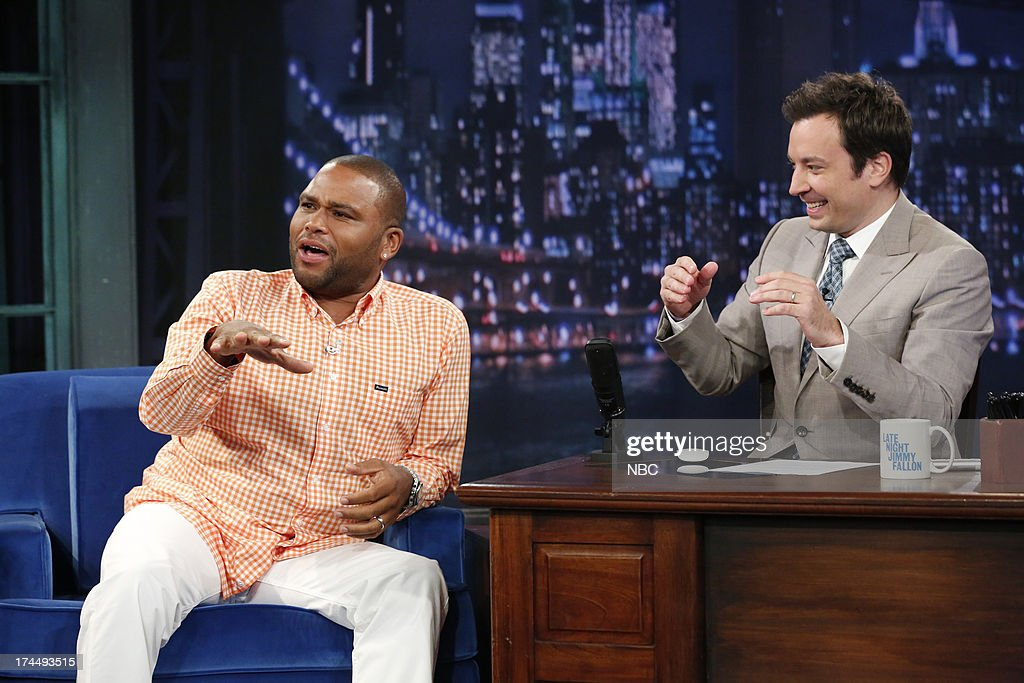 <a gi-track='captionPersonalityLinkClicked' href=/galleries/search?phrase=Anthony+Anderson&family=editorial&specificpeople=202577 ng-click='$event.stopPropagation()'>Anthony Anderson</a> with host Jimmy Fallon during an interview on July 26, 2013 --