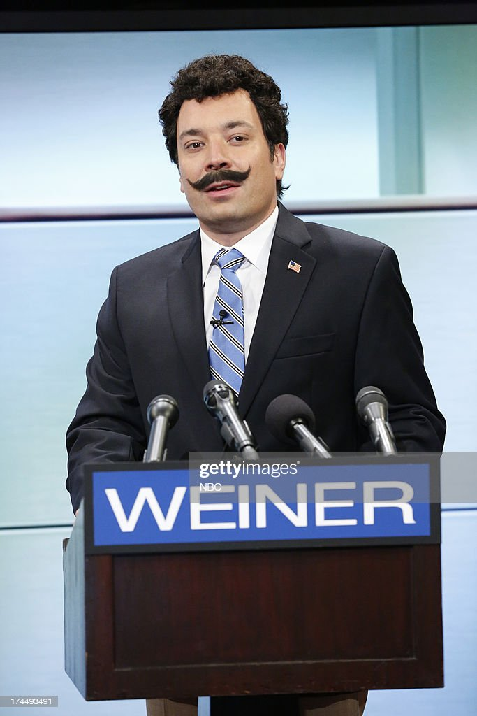 Host Jimmy Fallon during an Anthony Weiner skit on July 26, 2013 --