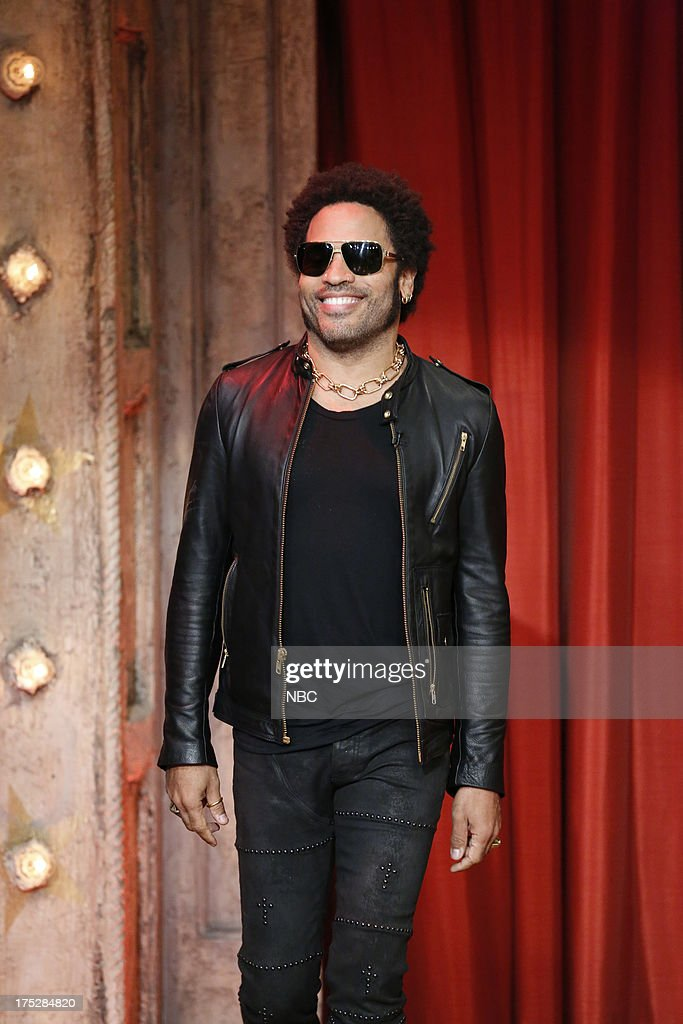 <a gi-track='captionPersonalityLinkClicked' href=/galleries/search?phrase=Lenny+Kravitz&family=editorial&specificpeople=171613 ng-click='$event.stopPropagation()'>Lenny Kravitz</a> arrives on August 1, 2013 --