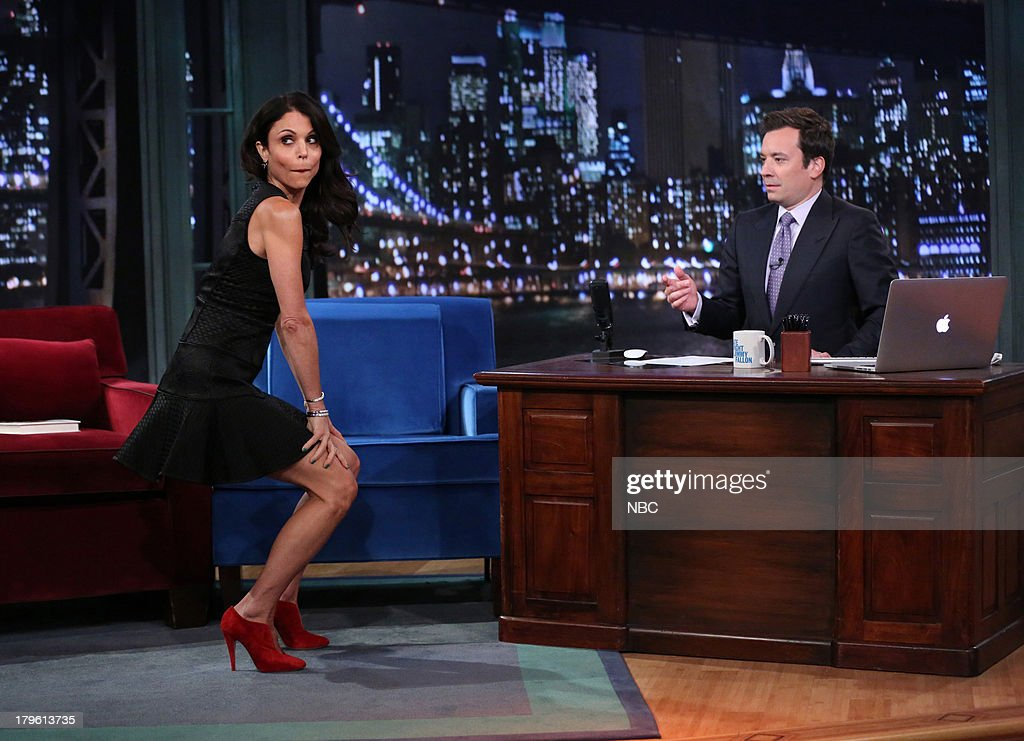 Bethenny Frankel twerking during an interview with host Jimmy Fallon on September 05 2013