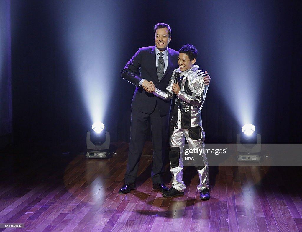 Host Jimmy Fallon with America's Got Talent winner Kenichi Ebina on September 19, 2013 --
