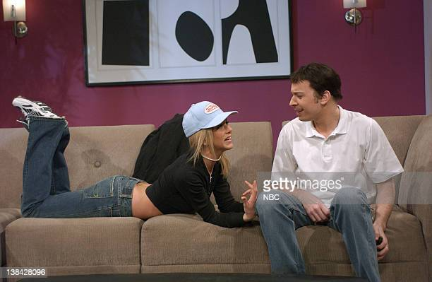 LIVE Episode 9 Air Date Pictured Jennifer Aniston as Britney Spears Jimmy Fallon as Jason Alexander during the 'Britney's Wedding' skit on January 10...