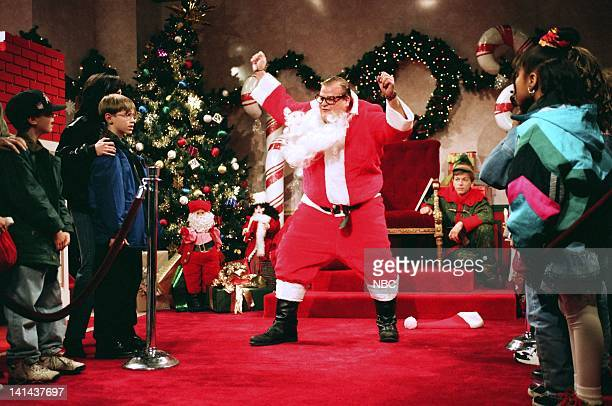Chris Farley as Matt Foley during the 'Motivational Santa' skit on December 11 1993 Photo by Gene Page/NBC/NBCU Photo Bank