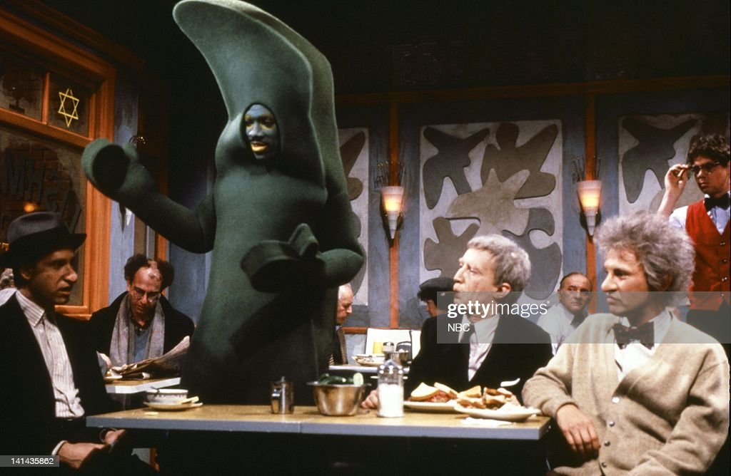 Christopher Guest as Morty Schmegman Eddie Murphy as Gumby Martin Short as Irving Cohen and Billy Crystal as Lew Goldman during 'Lishman's Deli' skit...