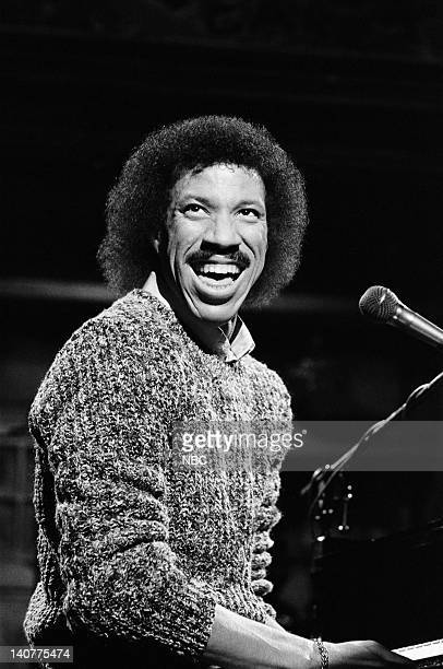 Lionel Richie during the musical performance on December 11 1982 Photo by Alan Singer/NBC/NBCU Photo Bank