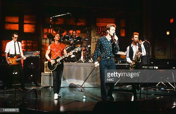 Musical guests Huey Lewis the News perform on January 14 1984