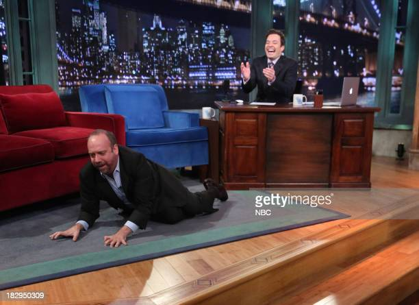 Paul Giamatti with host Jimmy Fallon during an interview on Wednesday October 2 2013