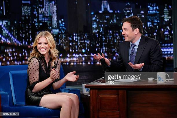 Actress Chloe Grace Moretz during an interview with host Jimmy Fallon on October 9 2013