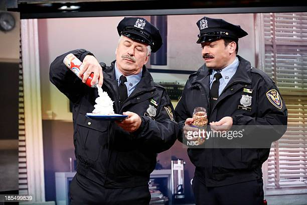 Alec Baldwin and Jimmy show clips from 'Point Pleasant Police Department' their 80's cop sitcom on Monday October 21 2013