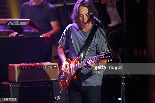 Music guest Stone Gossard of Pearl Jam performs on Thursday October 24 2013