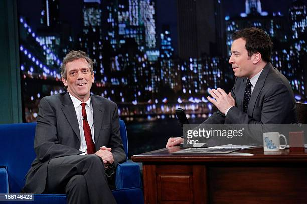 Hugh Laurie with host Jimmy Fallon during an interview on Monday October 28 2013