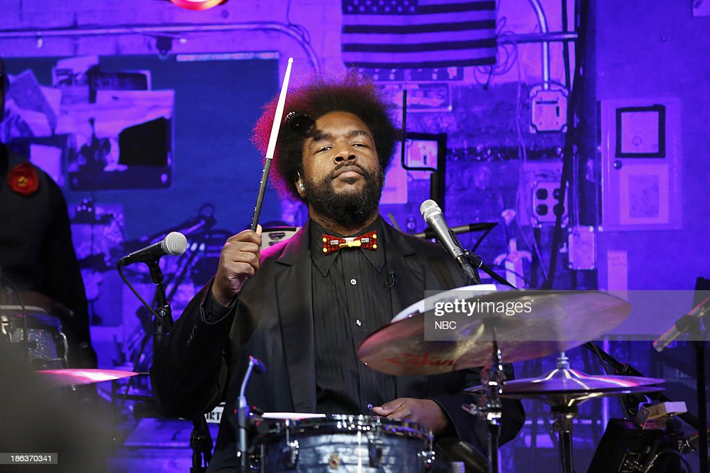 Ahmir '<a gi-track='captionPersonalityLinkClicked' href=/galleries/search?phrase=Questlove&family=editorial&specificpeople=537550 ng-click='$event.stopPropagation()'>Questlove</a>' Thompson of The Roots performs on Wednesday, October 30, 2013 --