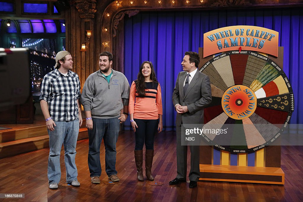 Audience members play Wheel of Carpet Samples with host Jimmy Fallon on Wednesday, October 30, 2013 --
