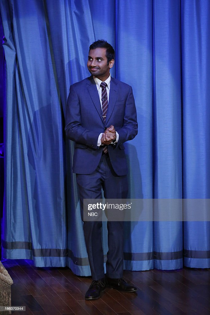 <a gi-track='captionPersonalityLinkClicked' href=/galleries/search?phrase=Aziz+Ansari&family=editorial&specificpeople=4266146 ng-click='$event.stopPropagation()'>Aziz Ansari</a> arrives on Wednesday, October 30, 2013 --